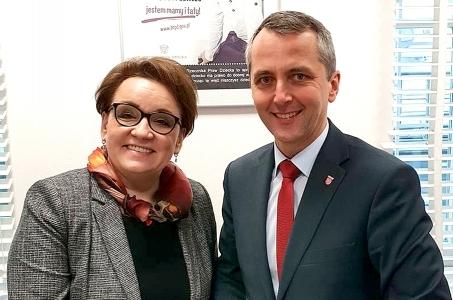 Prezydent Raciborza spotkał się z Minister Edukacji Narodowej.