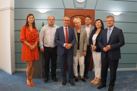 Raciborskie spotkanie w sprawie Odrzańskiej Drogi Wodnej.