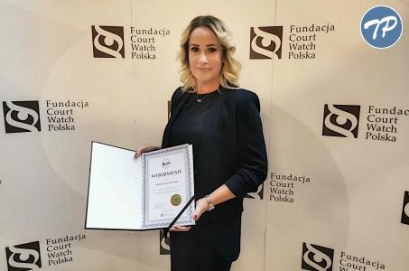Sędzia Marzena Korzonek wyróżniona w plebiscycie Obywatelski Sędzia Roku 2019.