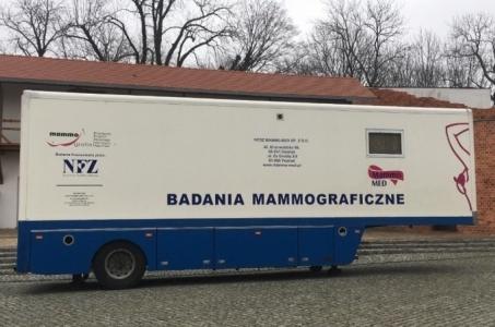 Racibórz. Badania mammograficzne na Zamku Piastowskim.